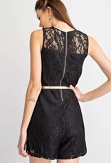 All-Over Lace Sleeveless Romper