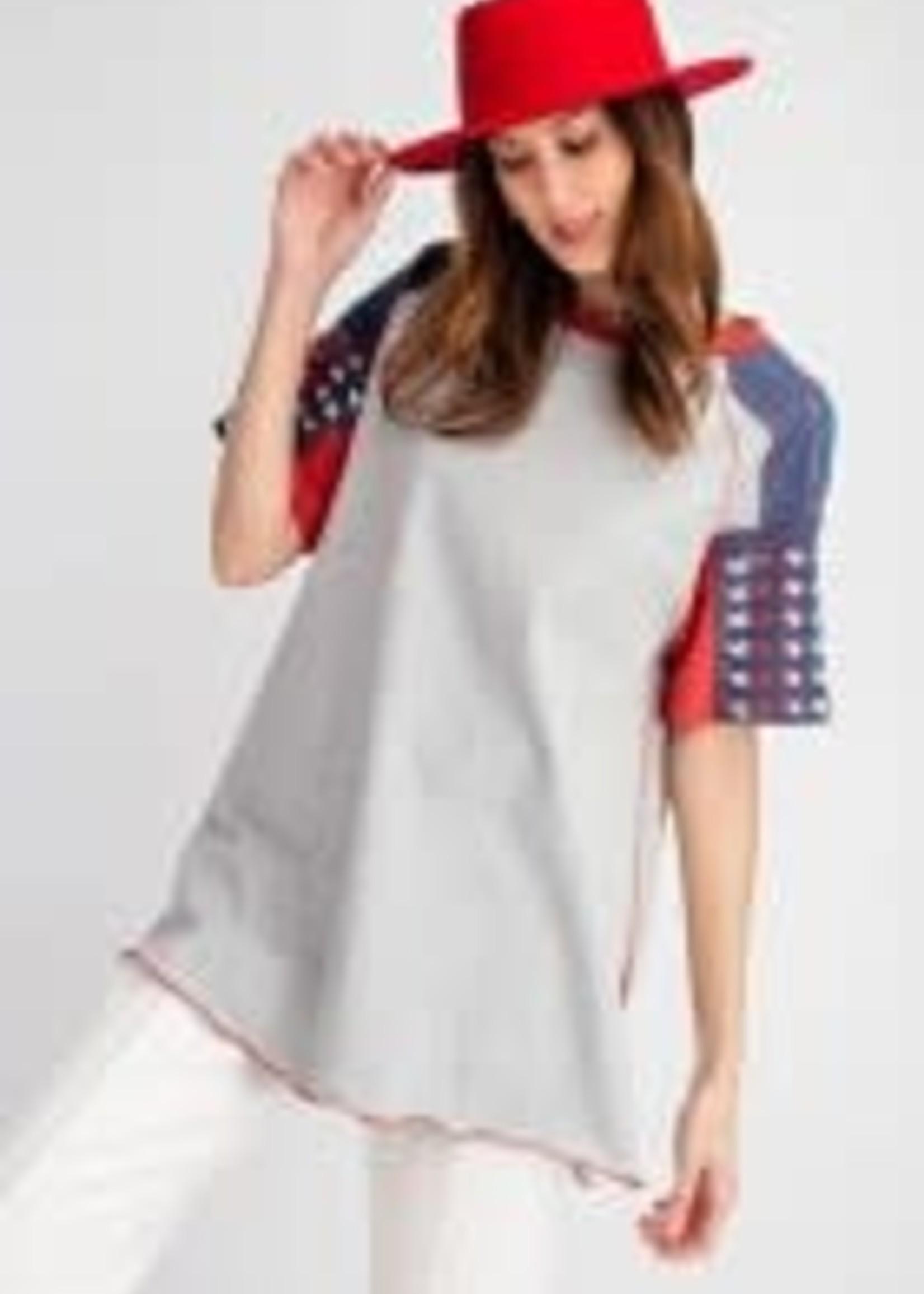 American Star Sleeve Short Sleeve Shirt