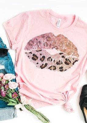 Leopard Lip Beauty Tee