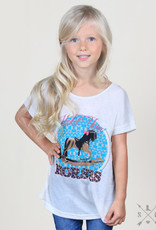 Hold Your Horses w/ Pink Lace Bow Back Tee; Girls