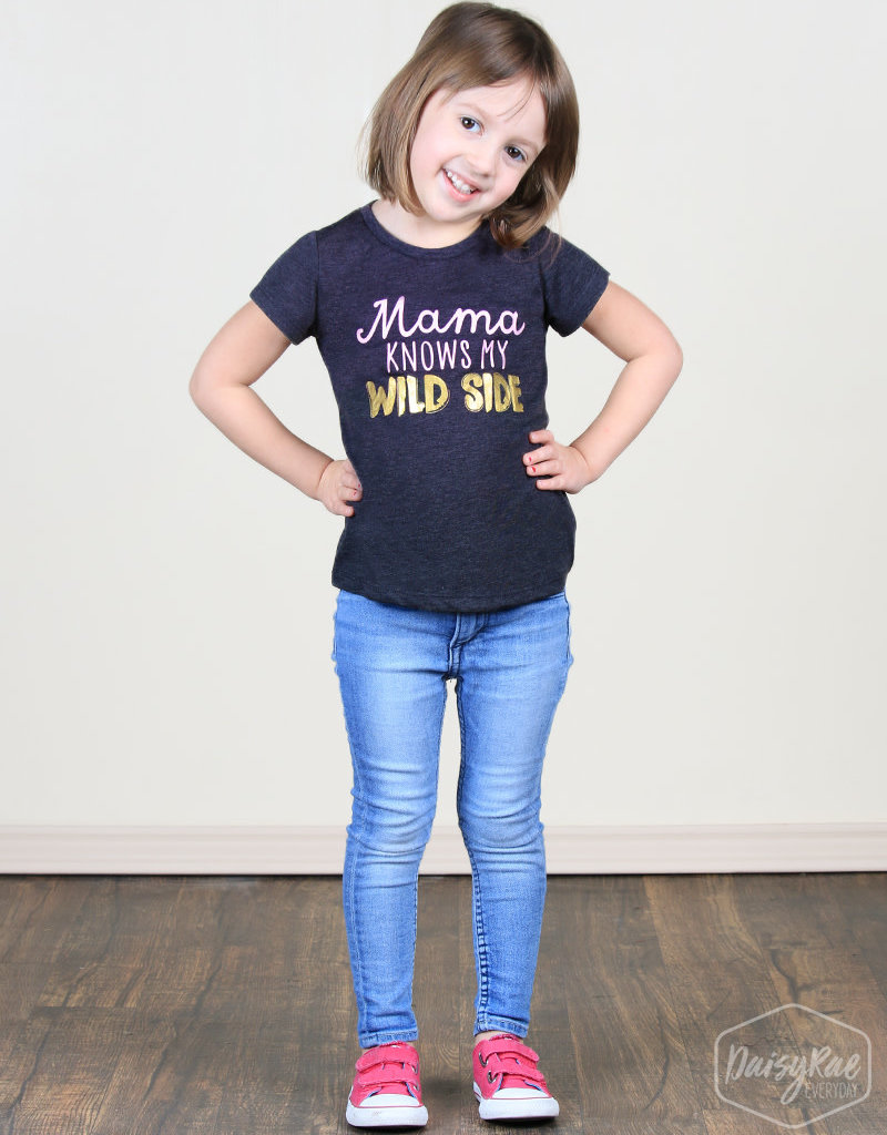 Mama Knows My Wild Side Tee; Girls