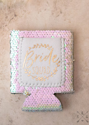 Bride Squad Sequin Cooler