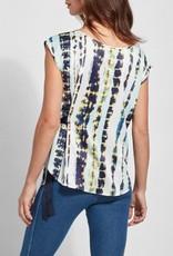 Tie Dye Stripes Vera Printed Top