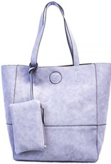Raw Edge Tote Handbag w/ Coin Purse