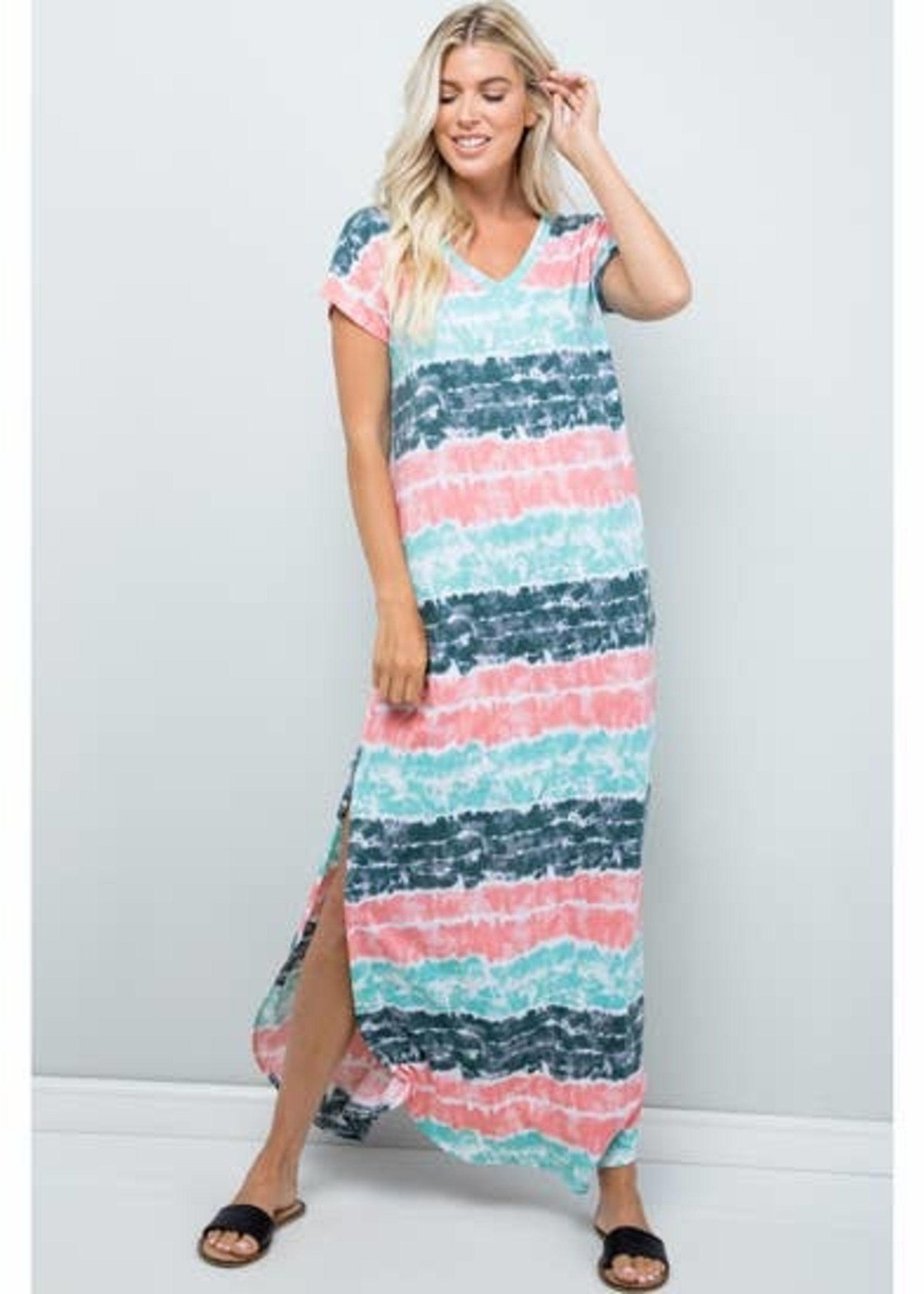 Nothing Says Summer Like Tie Dye Jersey Maxi Dress