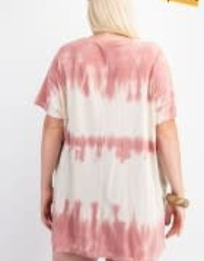 Wave Washed Short Sleeve Top