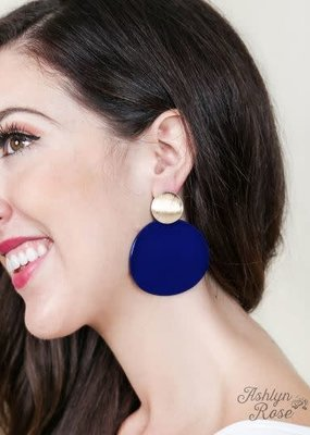 Circle Stud Earrings