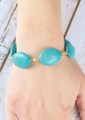 Country Chic Stone Bracelet