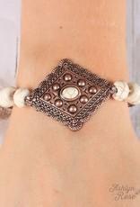 Beaded Bracelet w/ Pendant