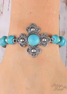 Floral Cross Bracelet