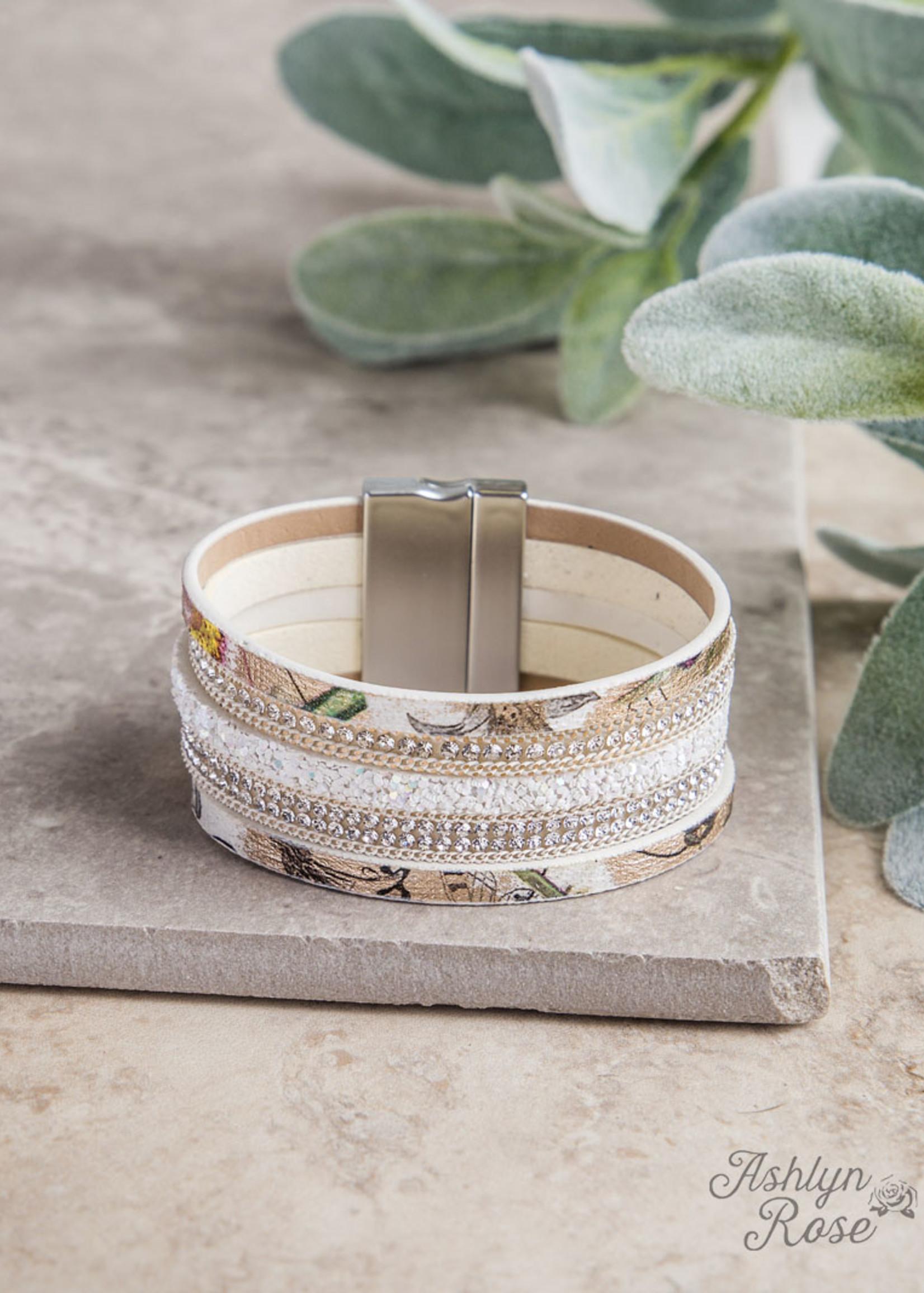 Multi-Strand Magnetic Leather Bracelet