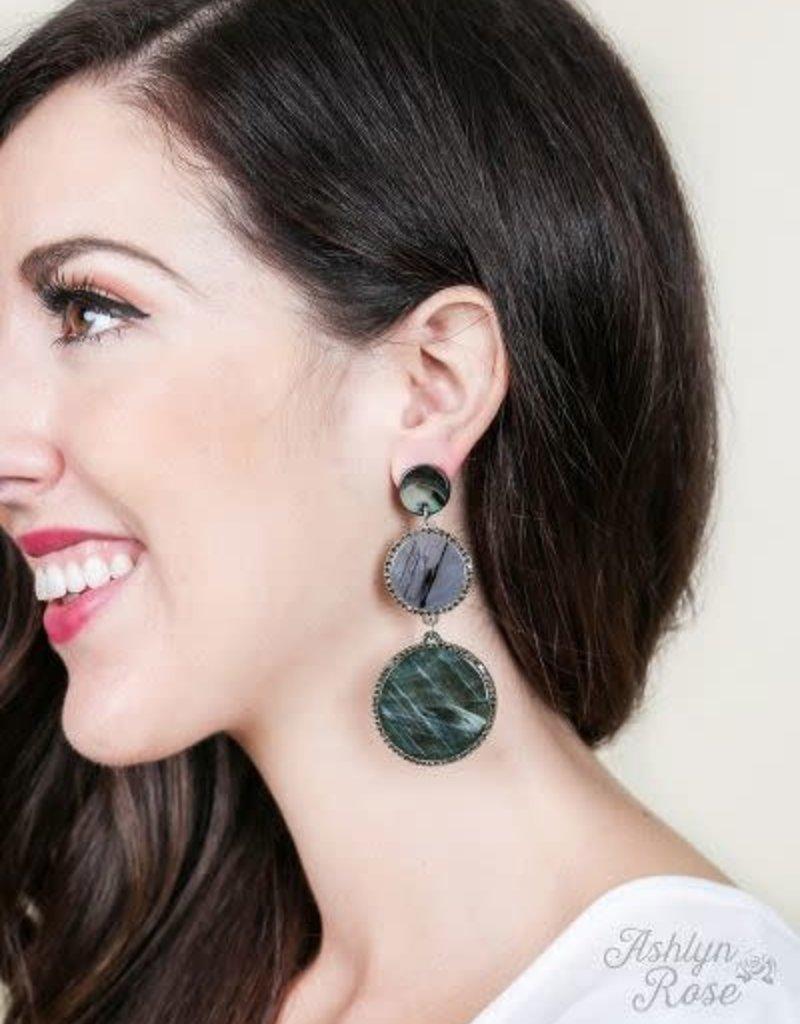 Stacked Circle Stud Earrings
