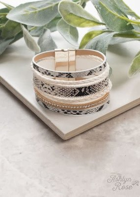 Rattling Around Leather Bracelet