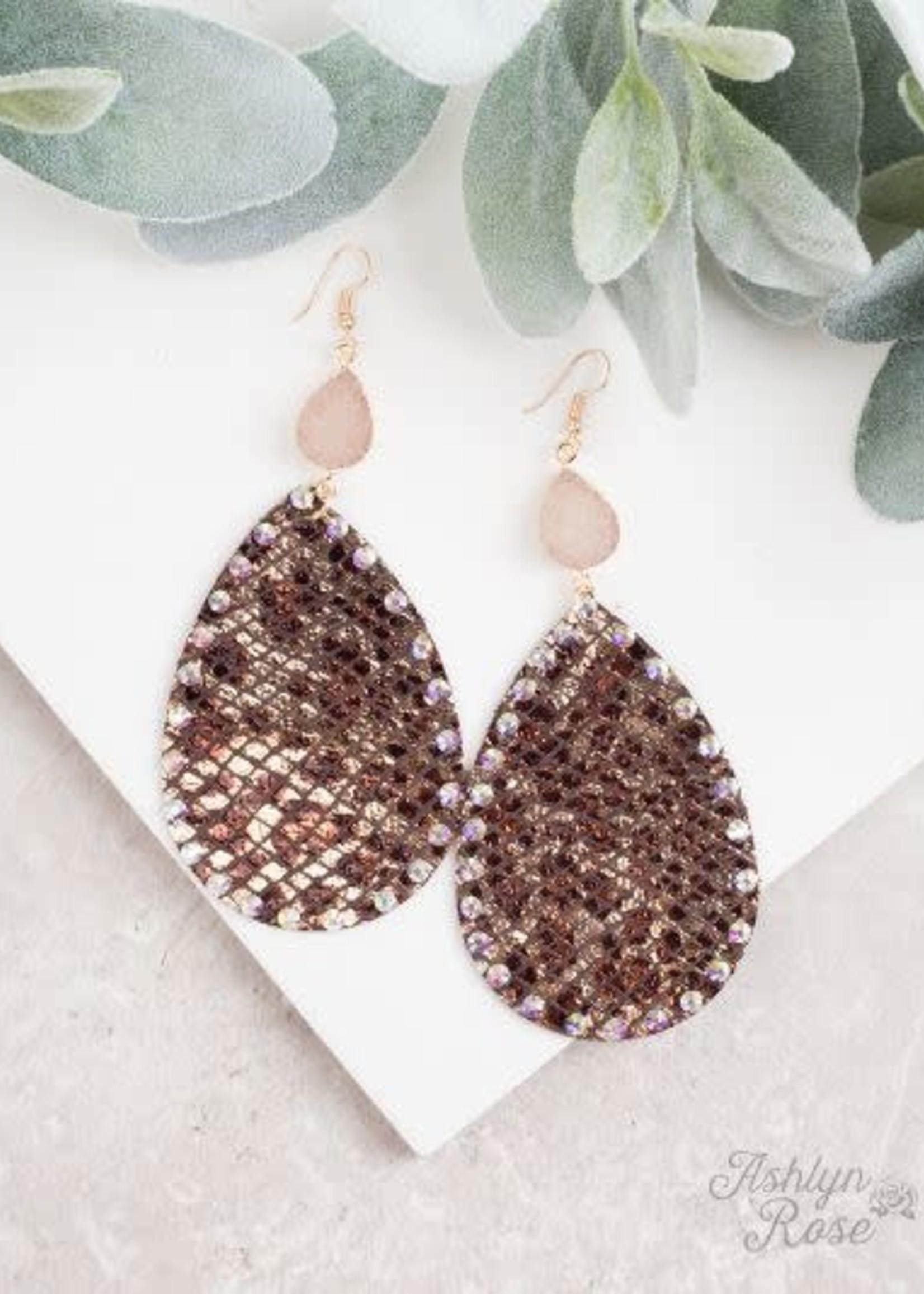 Mixing it Up Fabric Pendant & Druzy Earrings