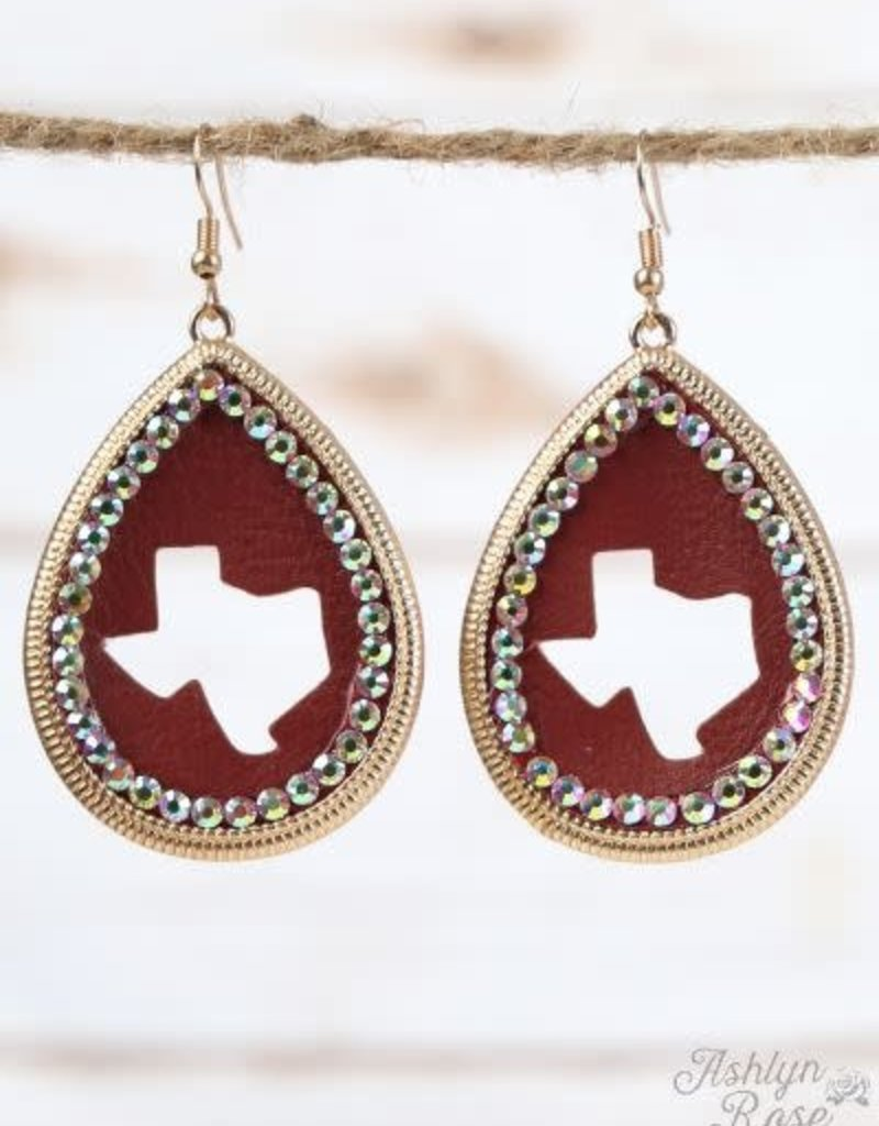 Texas Cut-Out Teardrop Earrings