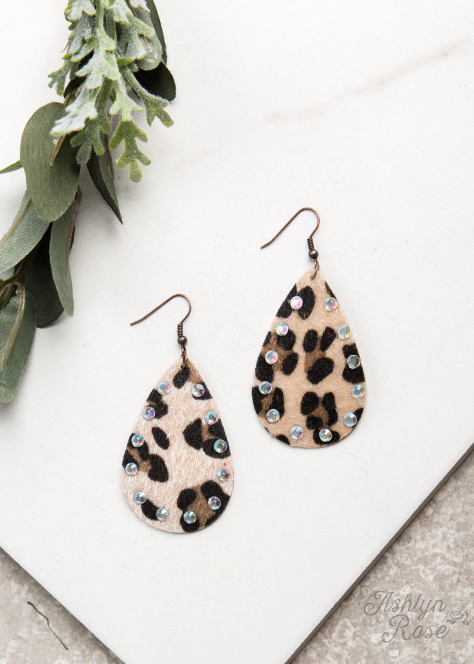 Drop Earrings w/ AB Crystals