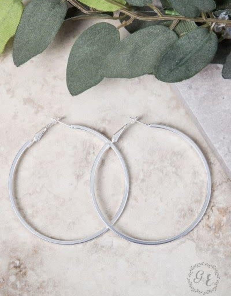 Large Thick Hoop Earrings