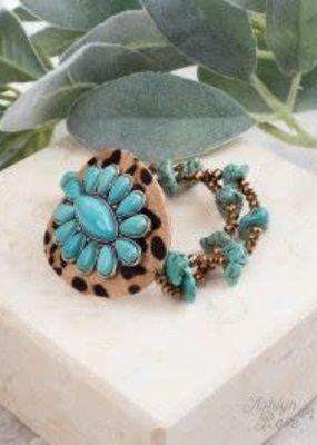 Set In Stone Leopard Bracelet