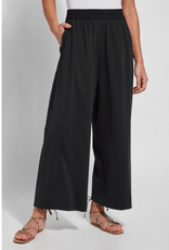 Wide Leg Microfiber Crop Pant