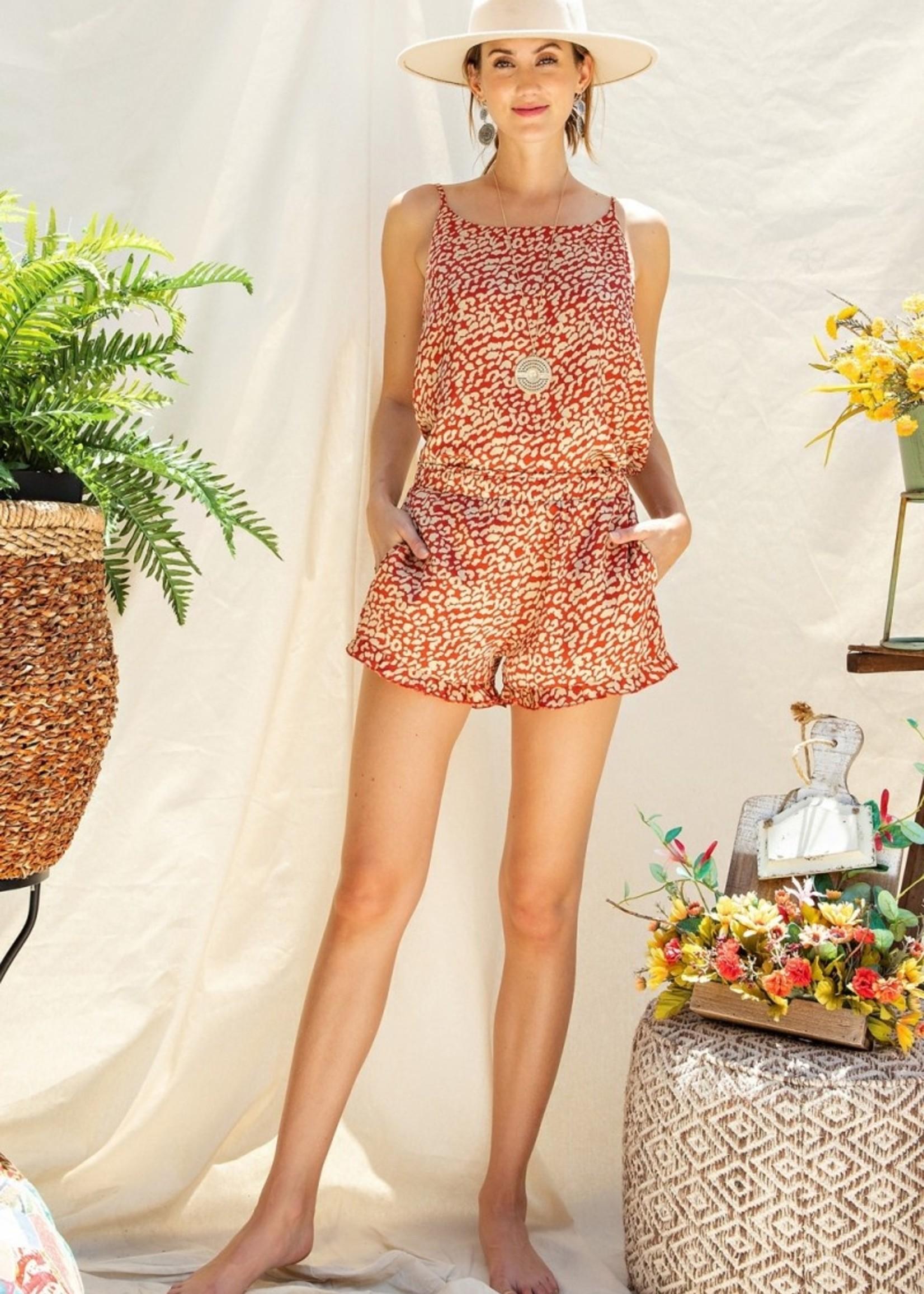 Baby Doll Leopard Satin Pajama Set