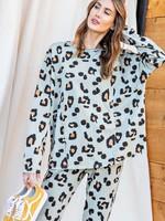 Leopard Printed Cotton Lounge Shirt