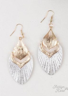 Fly Away with Me Metallic  Earrings