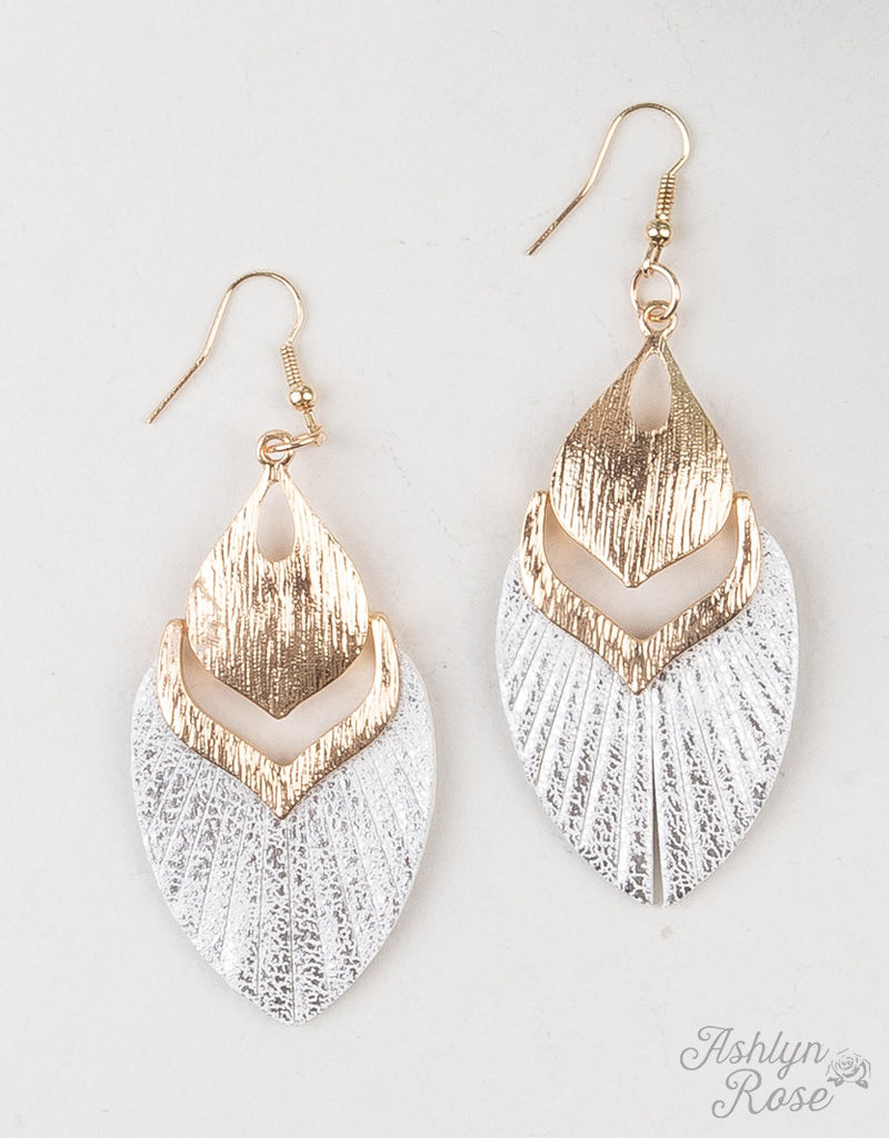 Fly Away with Me Metallic  Earrings