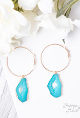 Geode Hoop Earrings; Special Collection