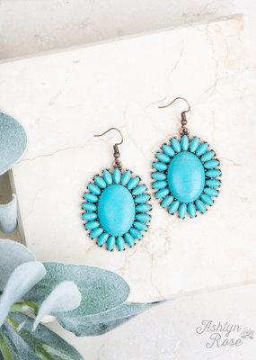 Stone Medallion Earrings