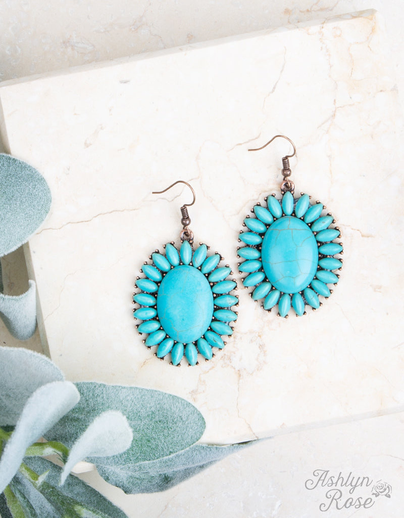 Stone Medallion Earrings