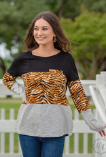 Eye of the Tiger Pull-Over Long-Sleeve Top