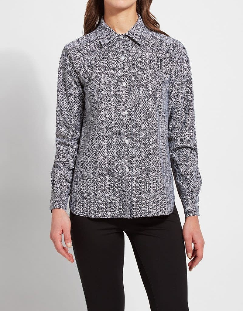 Connie Slim Button Down Printed (Microfiber) Shirt