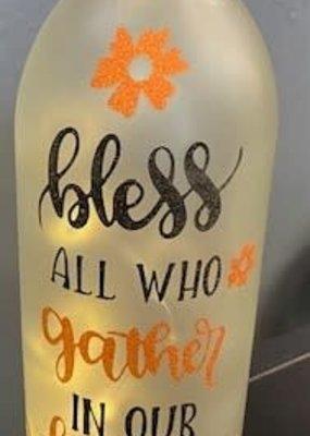 Lighted Wine Bottles