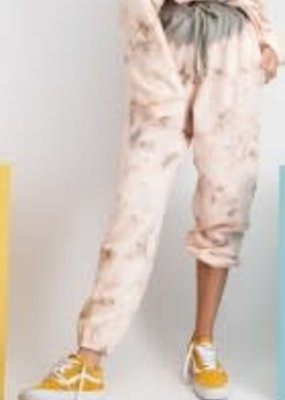 Tie Dye Washed Terry Knit Lounge Pants