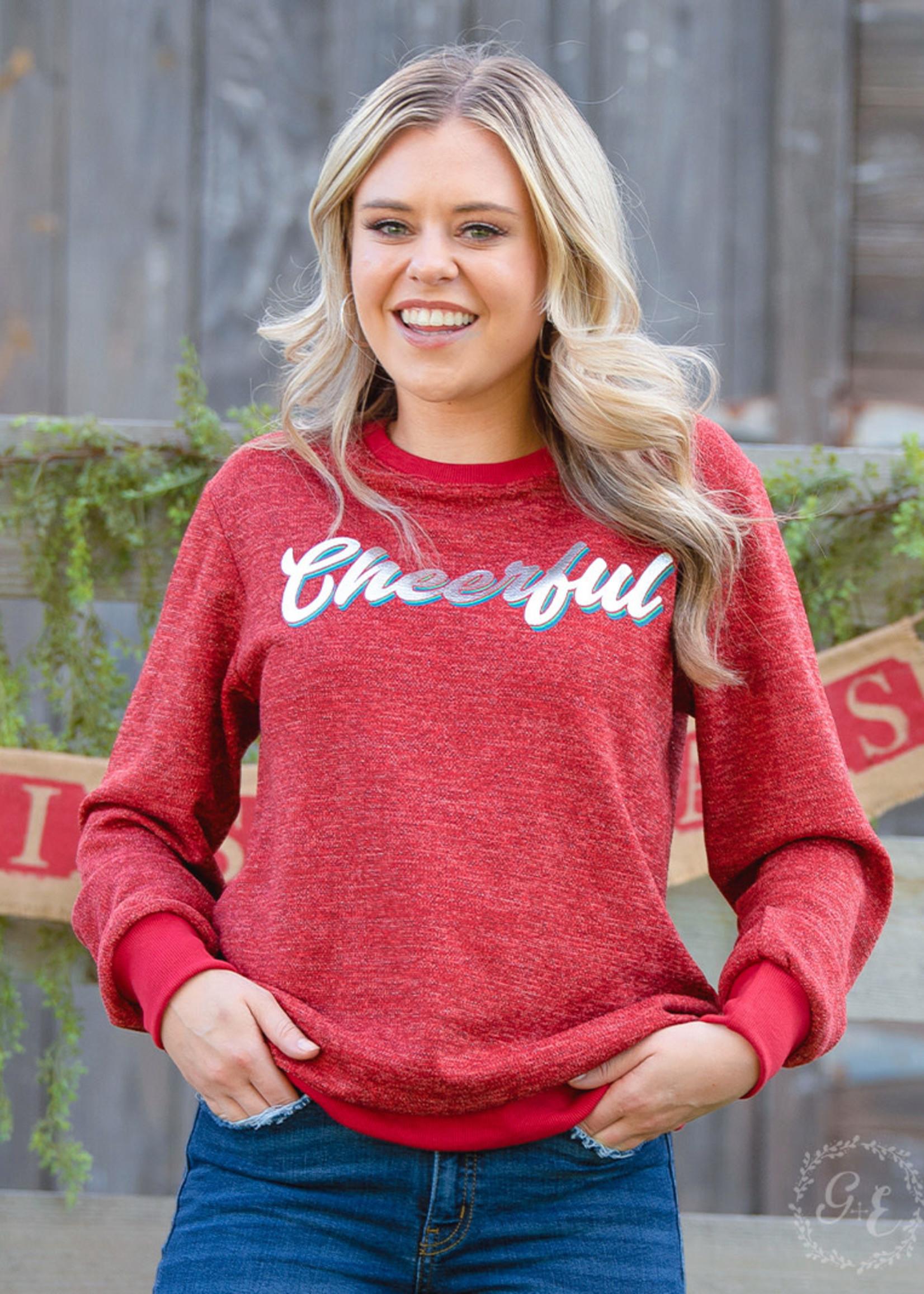 Cheerful Glitter Sweatshirt