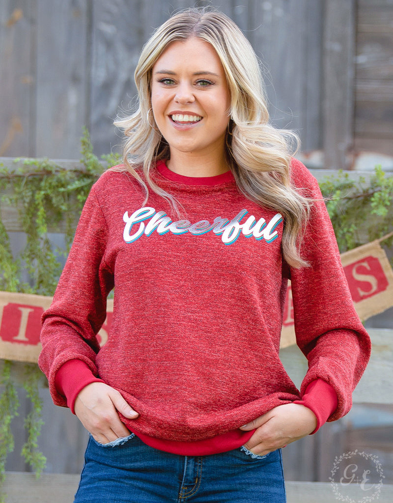 Cheerful Glitter Sweatshirt