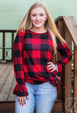 Best of the Best Plaid Top w/ Side and Sleeve Details