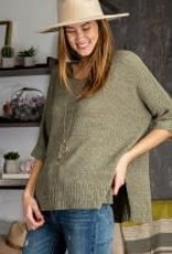 Loose Fit Knitted Sweater, Lightweight