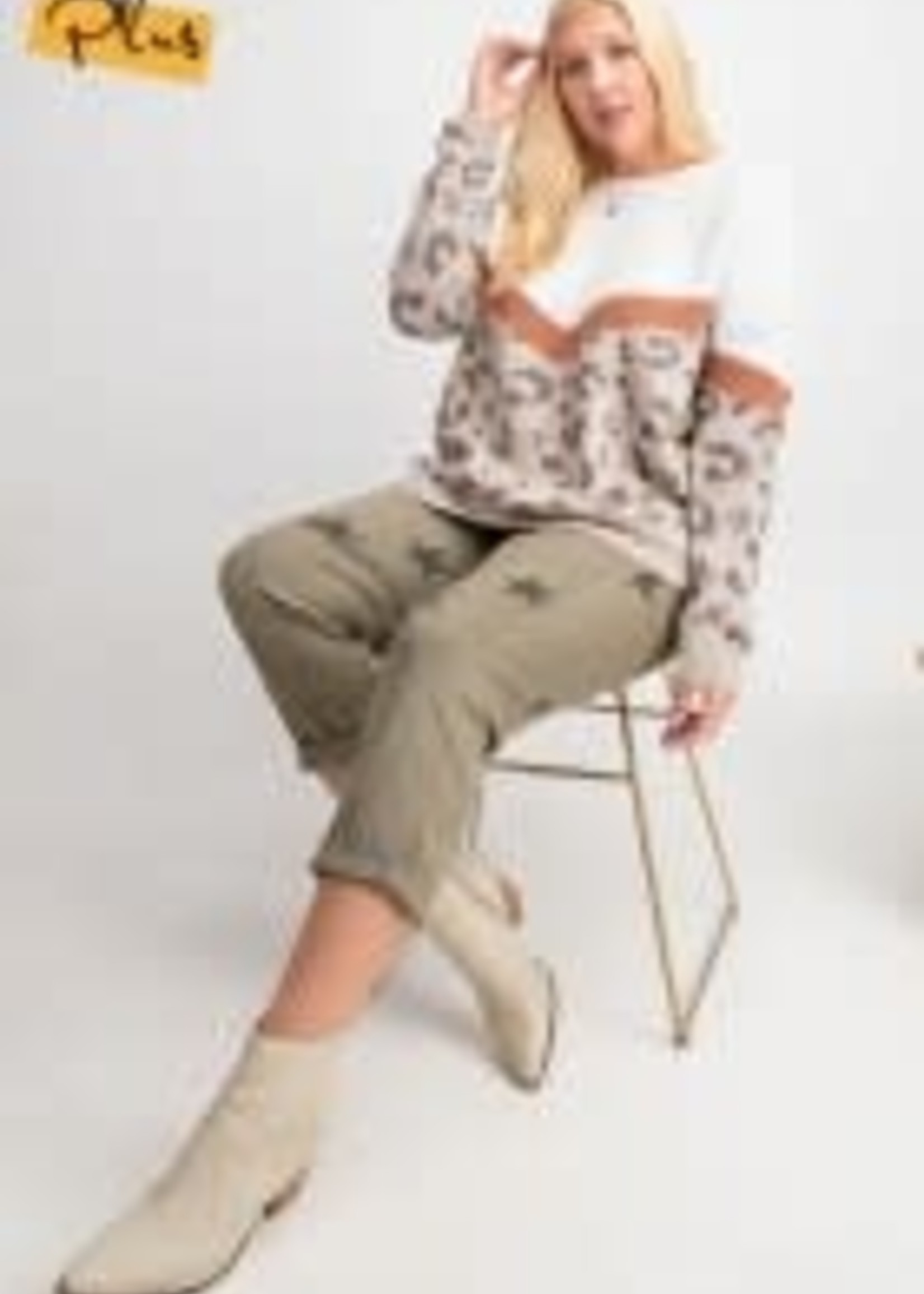 Animal Pattern Solid Mix N Match Knitted Sweater