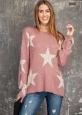 Star Patterned Knitted Sweater