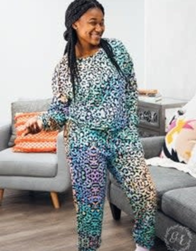 Leopard Pajamas Pant Set