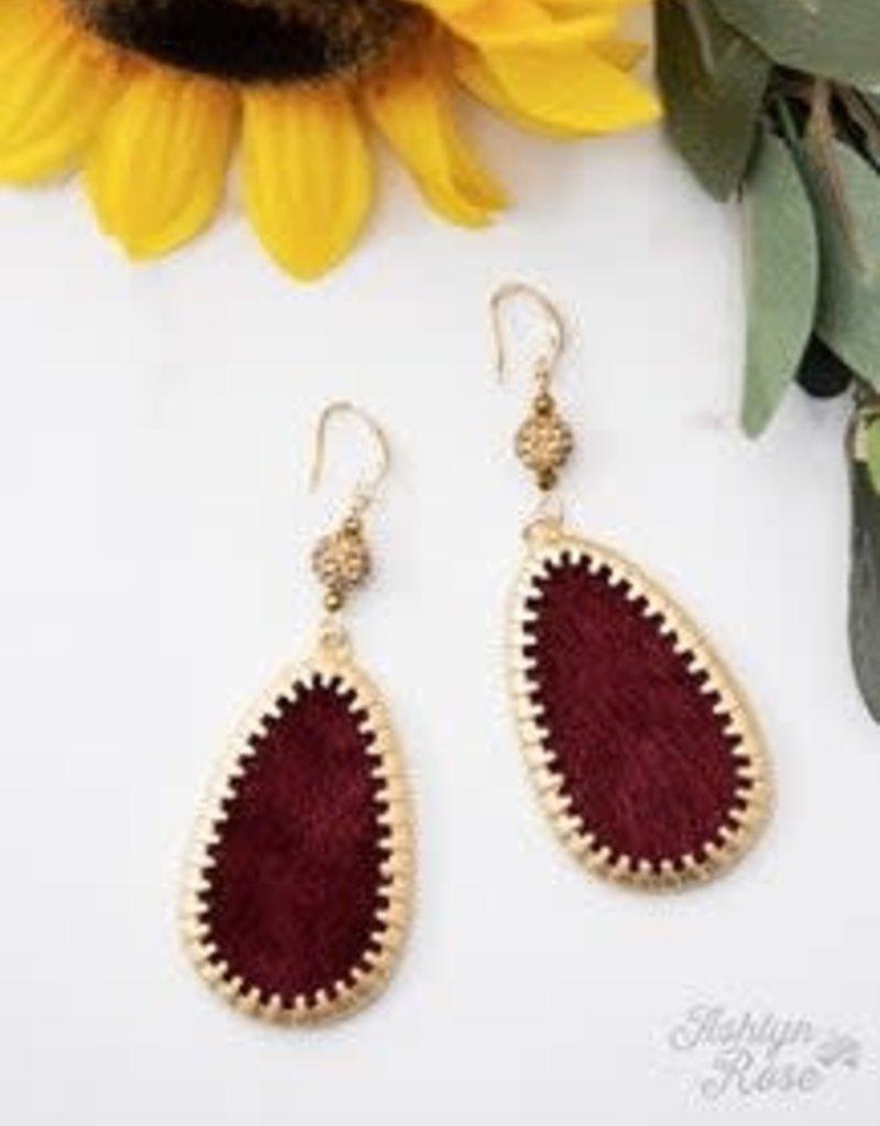 Velvet Earrings w/ Golden Border