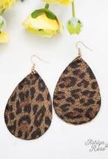 Wildin' Leopard Teardrop Earrings
