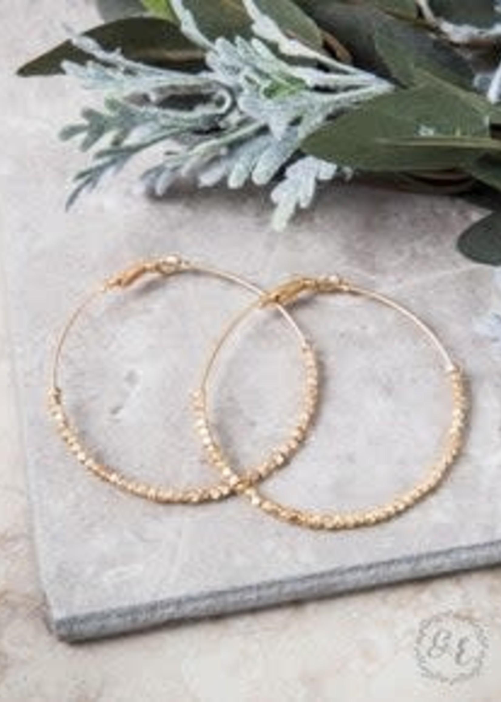 """1.5"""" Beaded Hoop Earrings"""
