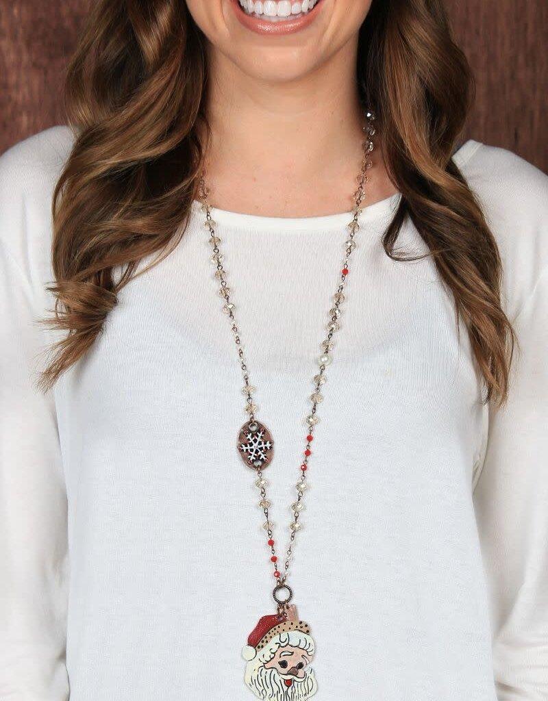 Christmas Beaded Necklace w/ Pendants