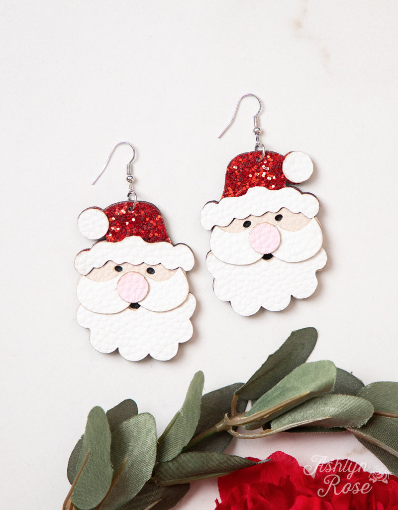 Classic Christmas Santa Earrings