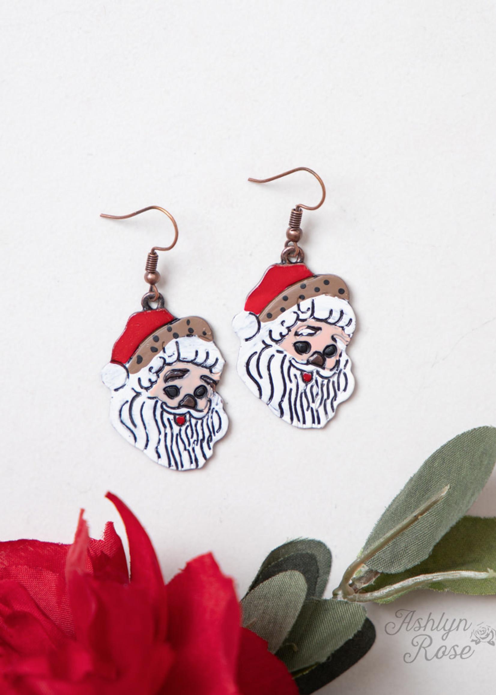 Classic Christmas Santa Earrings