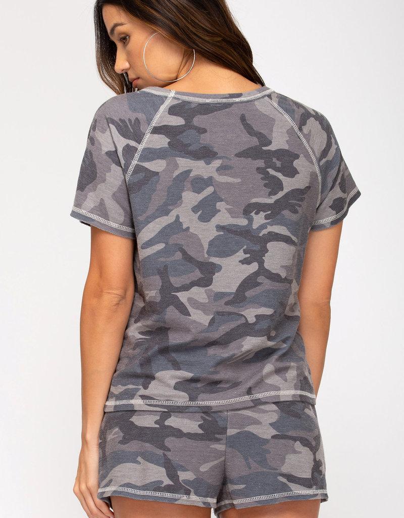 Camouflage Pajama Set