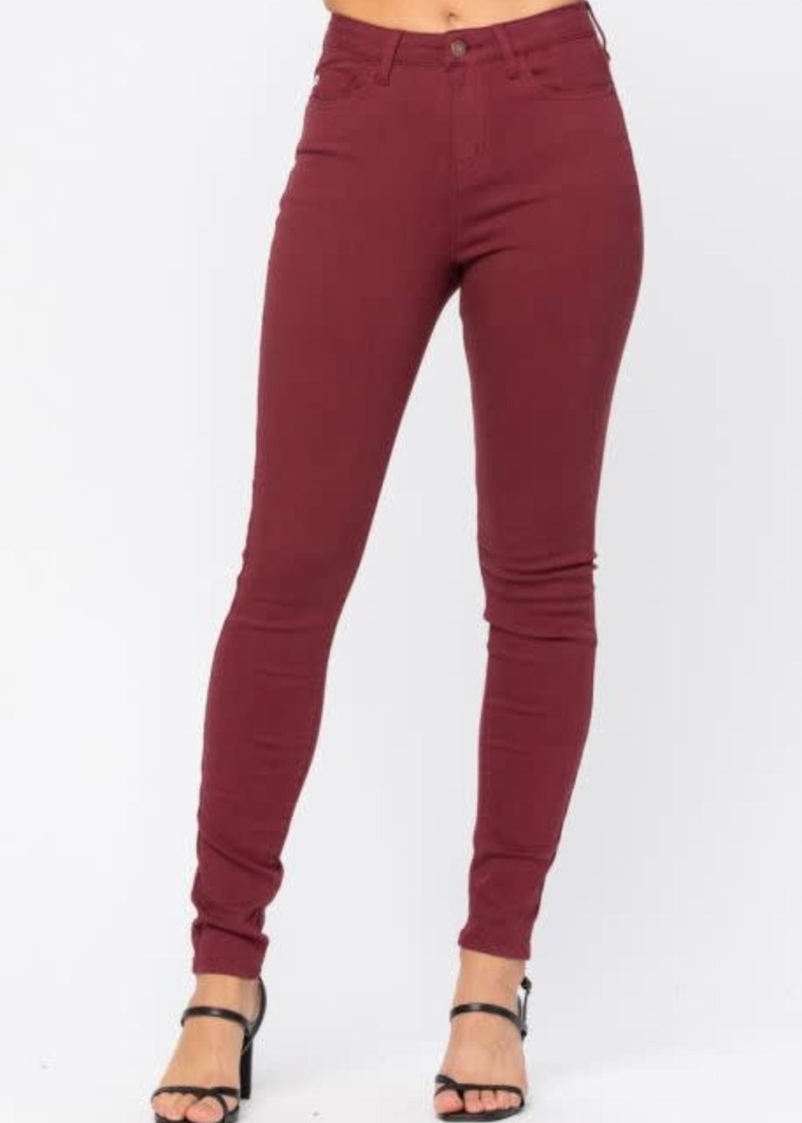 Hi-Waist Colored Skinny Jeans