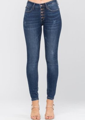 Button Fly No Destroy Skinny Jeans